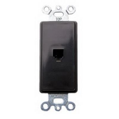 Leviton 40649 Decora® 1-Gang Wallplate; Flush/Screw, (1) 6P4C Jack, High Impact Plastic, Brown