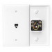 Leviton 40539-PMW 1-Gang Midway Wallplate; Flush/Screw Terminal, (1) 6P4C Jack, Nylon, White