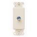 Leviton 40681-I Decora® F-Type CATV Connector Insert; Box/Wall/Flush Mount, Ivory