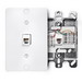 Leviton 40253-W 1-Gang Wallplate; Wall Phone/Surface, (1) 110 Type Quick-Connect 6P4C RJ11 Jack, High Impact Plastic, White