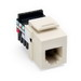 Leviton 41106-RT6 QuickPort® 110 Punchdown USOC and Voice Grade Modular Jack; 6P6C, Light Almond