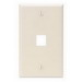 Leviton 41080-1TP 1-Gang Standard Wallplate; Box/Flush, (1) Port, High Impact Flame Retardant Plastic, Light Almond