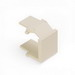 Leviton 41084-BTB QuickPort® Blank Insert; Snap-In Mount, High Impact Fire-Retardant Plastic, Light Almond