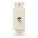 Leviton 40681-T Decora® Wall Plate Jack; Box Mount, Light Almond