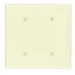 Leviton 86034 2-Gang Standard Wallplate; Strap Mount, Thermoset, Ivory
