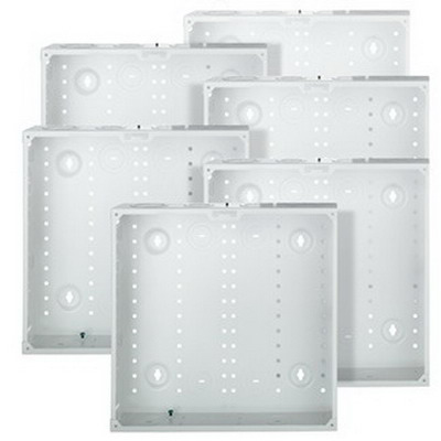 Leviton 47605-14G Structured Media® 140 Series Enclosure; Flush Mount, White, Bulk Pack