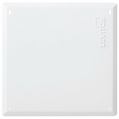 Leviton 47605-14B Structured Media® 140 Series Blank Cover; Flush Mount, 18 Gauge Steel Cover, White