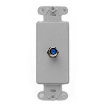 Leviton 40681-GY Decora® Wallplate; Flush/Screw, (1) F-Type Connector, High Impact Plastic, Gray