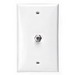 Leviton 80781-I eXtreme® F-Type Connector Standard Video Wall Jack; Flush/Wallplate Mount, Ivory