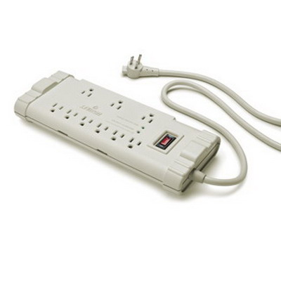 Leviton S2000-PS Surge Protective Power Strip With Switch; 9 Outlets, 6-Foot Cord, 15 Amp, 120 Volt