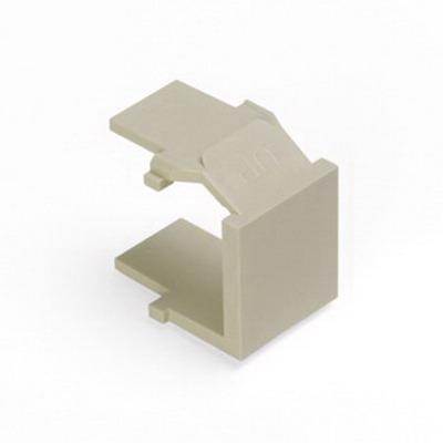 Leviton 41084-BIB QuickPort® Blank Insert; Snap-In Mount, High Impact Fire-Retardant Plastic, Ivory