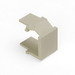Leviton 41084-BIB QuickPort® Blank Insert; Snap-In Mount, High Impact Fire-Retardant Plastic, Ivory