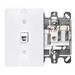 Leviton 40257-W Wallplate; Wall Phone/Surface, (1) 6P4C Jack, High Impact Plastic, White