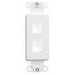 Leviton 41642-W Multimedia Insert; Flush, (2) Port, High Impact Flame Retardant Plastic, White