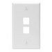 Leviton 41080-2WP 1-Gang Standard Wallplate; Box, (2) Port, High Impact Flame Retardant Plastic, White