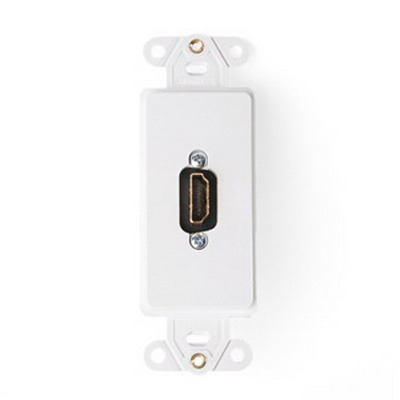 Leviton 41647-W Decora® Female-To-Female 1-Gang Insert With HDMI Feedthrough Connector; White