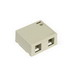 Leviton 41089-2IP QuickPort® Box; Surface, (2) Port, High Impact Flame Retardant Plastic, Ivory