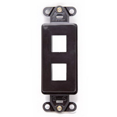 Leviton 41642-B 1-Gang Multimedia Insert; Flush, (2) Port, High Impact Flame Retardant Plastic, Brown