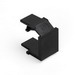 Leviton 41084-BEB QuickPort® Blank Insert; Snap-In Mount, High Impact Fire-Retardant Plastic, Black