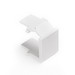 Leviton 41084-BWB QuickPort® Blank Insert; Snap-In Mount, High Impact Fire-Retardant Plastic, White