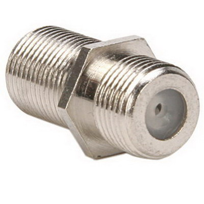 Leviton 40986 Female F-Type Connector Splice Coupler; Brass