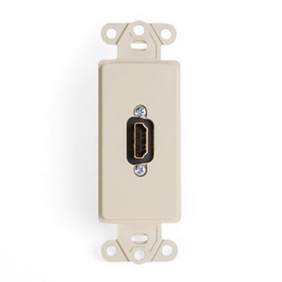 Leviton 41647-I Female-To-Female 1-Gang Insert With HDMI Feedthrough Connector; Ivory