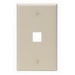 Leviton 41080-1IP 1-Gang Standard Wallplate; Box, (1) Port, High Impact Flame Retardant Plastic, Ivory