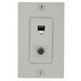 Leviton 40159-W Decora® 1-Gang Wallplate; Screw, (1) 6P4C F-Type Connector, White