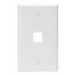 Leviton 41080-1WP 1-Gang Standard Wallplate; Box, (1) Port, High Impact Flame Retardant Plastic, White