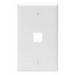 Leviton 41080-1WP 1-Gang Standard Wallplate; Box, (1) Port, High Impact Flame Retardant Plastic, White