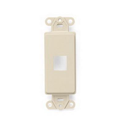 Leviton 41641-I Multimedia Insert; Flush, (1) Port, High Impact Flame Retardant Plastic, Ivory
