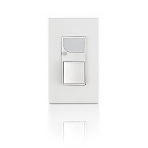 Leviton 6526-W Decora® Combination Switch With LED Light; 120 Volt, 15 Amp, 1 Pole, Wallplate Mounting, White