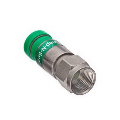 Leviton 40985-CPF RG-6 Compression F-Type Connector; 0.432 Inch Dia x 1.340 Inch Length