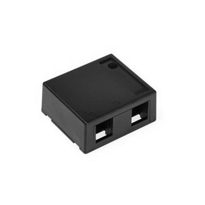 Leviton 41089-2EP QuickPort® Box; Surface, (2) Port, High Impact Flame Retardant Plastic, Black