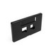 Leviton 49910-HE2 Modular Furniture Faceplate With ID Windows; Flush, (2) Port, ABS Plastic, Black