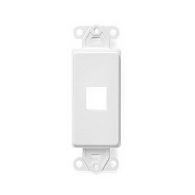 Leviton 41641-W Multimedia Insert; Flush, (1) Port, High Impact Flame Retardant Plastic, White