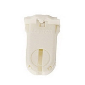 Leviton 23660-SWP T8/T12 Fluorescent Lampholder; 600 Volt, 660 Watt, Bottom Snap-In With Post Mount