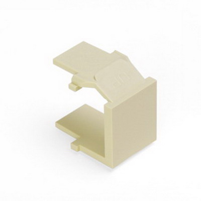Leviton 41084-BAB QuickPort® Blank Insert; Snap-In Mount, Almond