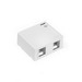 Leviton 41089-2WP QuickPort® Box; Surface, (2) Port, High Impact Flame Retardant Plastic, White