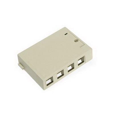 Leviton 41089-4IP QuickPort® Box; Surface, (4) Port, Flame Retardant Plastic, Ivory