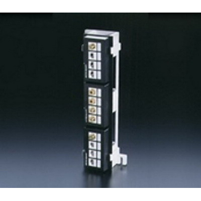 Leviton 47689-QP QuickPort® Field-Configurable Multimedia Patch Block; 12-Port