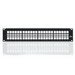 Leviton 49255-H48 QuickPort® Multimedia Patch Panel & Management Bar; Rack Mount, 48-Port, 2-Rack Unit, Black