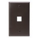 Leviton 41080-1BP 1-Gang Standard Wallplate; Box/Flush, (1) Port, High Impact Flame Retardant Plastic, Brown