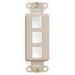 Leviton 41643-I Multimedia Insert; Flush, (3) Port, High Impact Flame Retardant Plastic, Ivory
