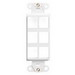 Leviton 41646-W 1-Gang Multimedia Insert; Flush, (6) Port, High Impact Flame Retardant Plastic, White