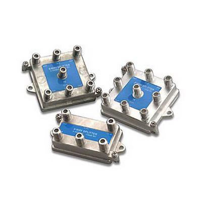 """""Leviton 47690-4 4-Way Passive Video F-Type Splitter 1 Giga-Hz, Silver,"""""" 610299"