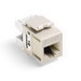 Leviton 61110-RT6 eXtreme® QuickPort® Category 6 Modular Connector; Snap-In/Panel/Wall Plate Mount, 8P8C, Light Almond