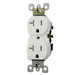 Leviton W5820-T0W QuickPort® Decora® Straight Blade Duplex Receptacle; 20 Amp, 125 Volt, 2 Poles, High Impact Thermoplastic