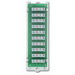 Leviton 47689-B 1 x 9 Bridged Telephone Board; White Bracket