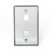 Leviton 43080-1S2 1-Gang Standard Wallplate; (2) Port, 304 Stainless Steel